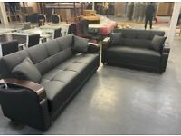 new brand leather sofa bed 3 seater available