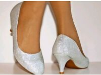 Silver shoes new
