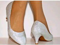 Silver heels new