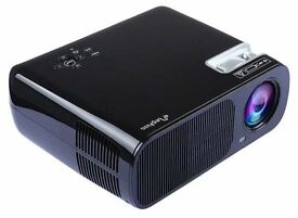 "ELEPHAS Multi-media 200"" full color HD LEd projector 2600 lumens for office home theater"