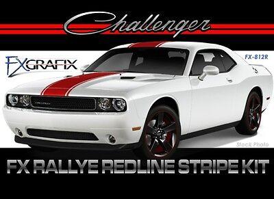 2008 - 2014 Dodge Challenger Rallye Redline Rally Stripe Kit 3m Quality Stripes