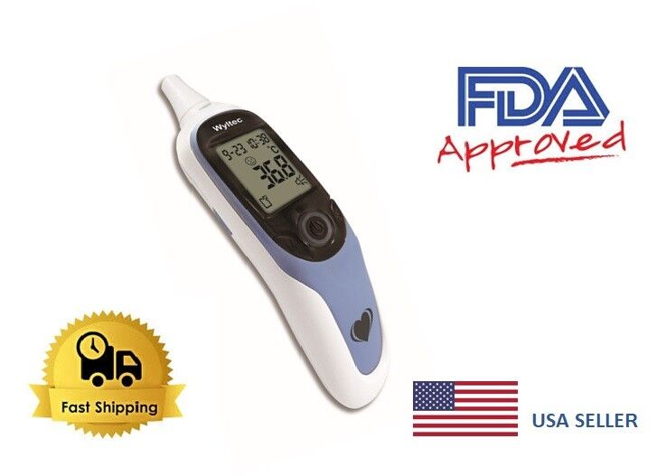 Digital Medical Infrared Ear talking Thermometer Monitor Fev