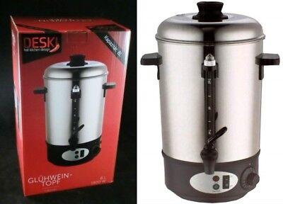 Glühweinkocher 8 L Glühweinautomat Edelstahl Wasserkocher Tee Glühweinkessel NEU