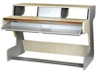 """Zaor Miza 88 music workstation desk (with keyboard shelf & 2x4U 19"""" racks)"""