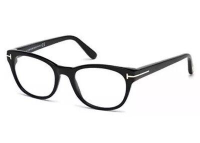 Tom Ford TF 5433 TF/5433 001 Shiny Black Plastic Optical Frame 51mm Women (Tom Ford Optical Women)