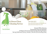 A Green Clean: Cleaning Service