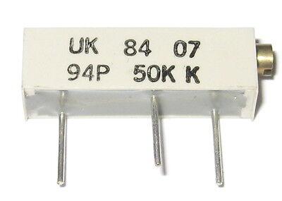 Allen Bradley Potentiometer - 50 Kohm - 20 Turn - 94p - Multiturn 50k Pot