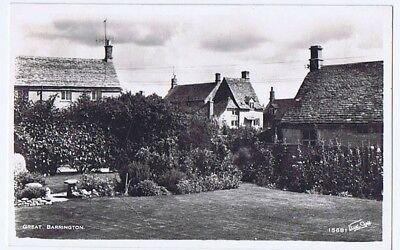 GREAT BARRINGTON Gloucestershire, RP Postcard by Walter Scott Unused
