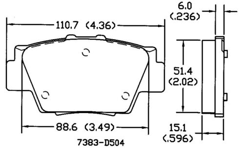 Disc Brake Pad Set Rear OMNIPARTS 13050362 fits 1991 Acura