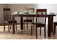 Extending Dining Table - with 6 Oxford Dark Chairs