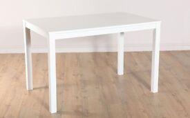 Milton Dining Table - White 120cm