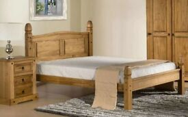 CORONA MEXICAN PINE LOW FOOT END BED FRAME KINGSIZE