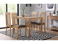 Solid Wood Oak Dining Table And 4 Chairs For Sale