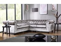 Cheryl Handmade Chesterfield Luxury Fabric Suite ***FREE DELIVERY***