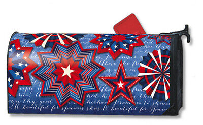 Celebrate America Mail Box Wrap Fireworks Magnetic Mailwrap Mailbox Cover