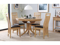 Extending Dining Room Table and Six Chairs (As new)