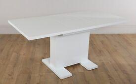 Brand New Osaka White High Gloss Dining Table