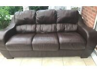 SOFAS IN DARK BROWN LEATHER
