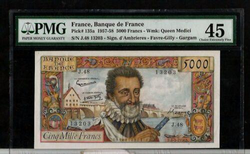 FRANCE 1957 5000 FRANCS  BANKNOTE