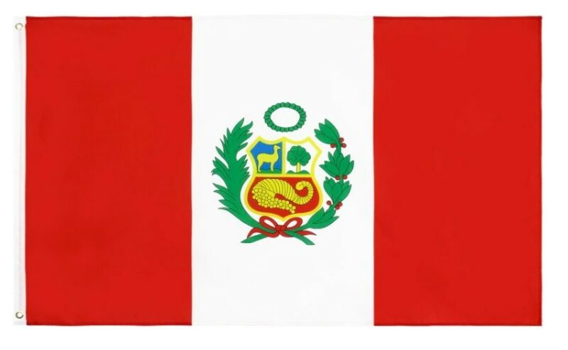 The Flag of Peru, City of the Kings 3 X 5 ft - BRAND NEW !