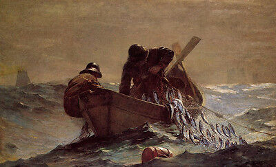 The Herring Net  by Winslow Homer  Giclee Canvas Print Repro