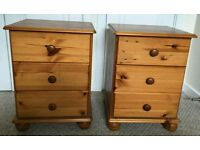 £50 pair of pine bedside cabinets farmhouse shabby chic project