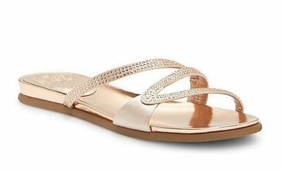 Vince Camuto Elouisa Jeweled Satin Sandals Pink (Jeweled Satin Sandals)