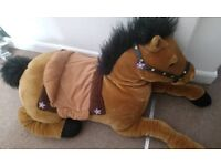 Large horse soft toy