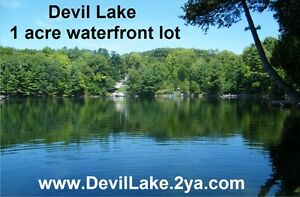 Devil Lake 1 acre waterfront land property