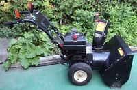 Snow Blower 8 Horsepower Gas Powered. Great Condition.