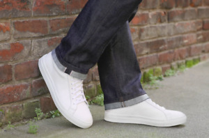 Minimalist White Sneakers - Made in Italy (7.5 US)