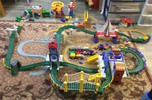 Train set and village