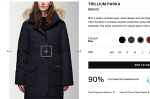 SELLING Canada Goose Trillium Parka Navy Size XS (women)