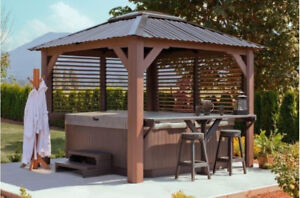 FREE Visscher Gazebo with the purchase of a Genuine Jacuzzi!!