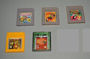 Nintendo Game Boy Games, Mario Land, Zelda Oracle Seasons, Kwirk