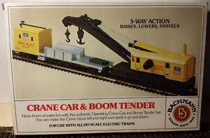 HO Crane Car & Boom Tender Set