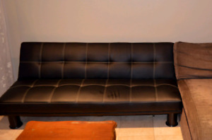 Fake leather futon