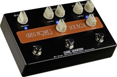 Carl Martin Lick Box Greg Howe Booster Overdrive Distortion Pedal