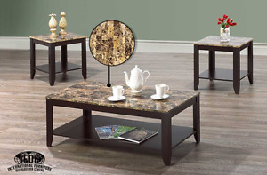 HOMETOWN FURNITURE & MATTRESS- Marble Look Top Coffee Table Sets