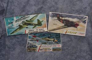 Three Military Plane Models 1:72 scale