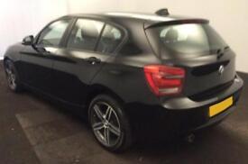 2014 BLACK BMW 116D 2.0 SPORT DIESEL MANUAL 5DR HATCH CAR FINANCE FR 37 PW