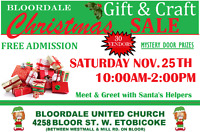 VENDORS WANTED!!!  Bloordale Christmas Gift & Craft Sale