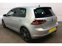2016 SILVER VW GOLF 2.0 TDI 184 GTD DSG DIESEL 5DR HATCH CAR FINANCE FR £67 PW