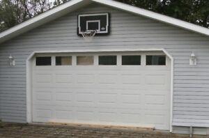 16' x 8' Insulated Steel Craft Garage Door and Opener