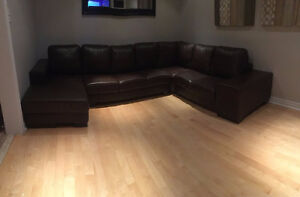High-end leather sectional sofa - custom made in Canada