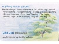 Grass cutting & garden maintenance