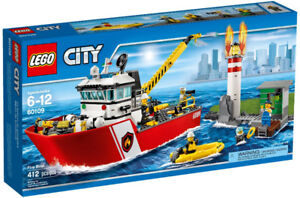 Lego City 60109 Fire Boat Neuf