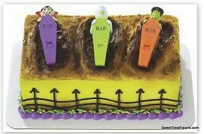 Halloween Decoration Cake Cupcake Toppers Tombstone Cemetery Mommy Frankenstein](Graveyard Cake Halloween)