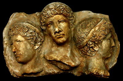 Three Faces Greco-Roman Wall Sculpture Art Plaque