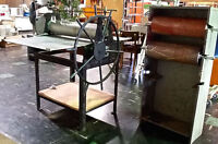 """PRAGA ETCHING PRESS, WORK TABLE 40"""" X 30"""" WITH 2 INK ROLLERS"""
